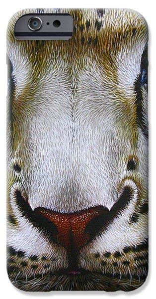 Snow Leopard iPhone Case by Jurek Zamoyski