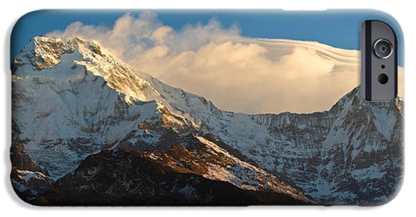 Mountain iPhone Cases - Snowcapped Mountains, Hiunchuli iPhone Case by Panoramic Images