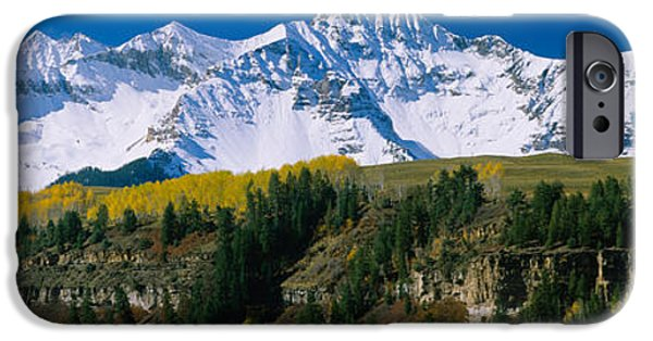 Mountain iPhone Cases - Snowcapped Mountains On A Landscape iPhone Case by Panoramic Images