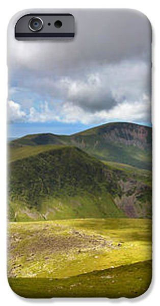 Snowdonia panorama iPhone Case by Jane Rix