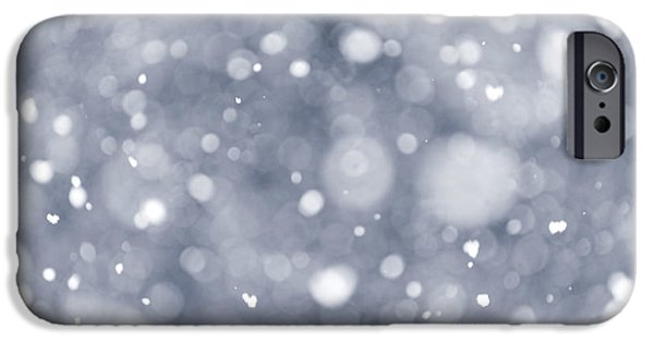 Snowy Evening iPhone Cases - Snowfall  iPhone Case by Elena Elisseeva