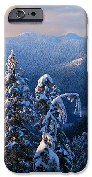 Snowy Mountain Landscape iPhone Case by Pierre Leclerc Photography