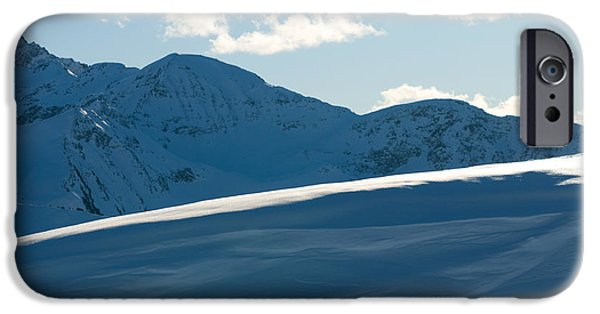 Snowy Day iPhone Cases - Snowy winter mountains iPhone Case by Michal Bednarek