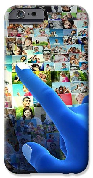 Social media network iPhone Case by Michal Bednarek