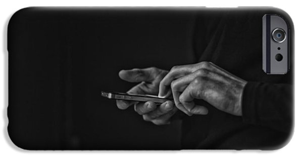 Keeping In Touch Photographs iPhone Cases - Social Obsession  iPhone Case by Gilles Lambert