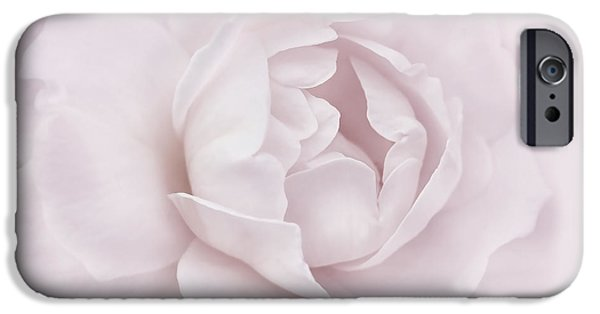Pastel iPhone Cases - Soft Plum Rose Flower iPhone Case by Jennie Marie Schell