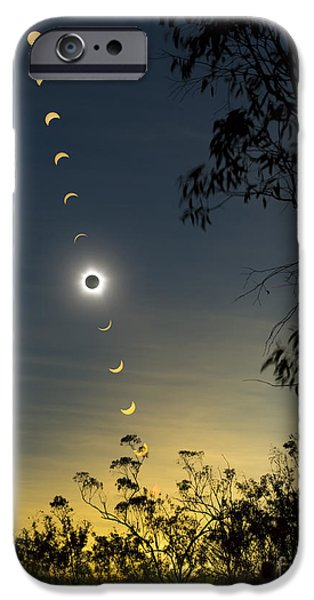 Solar Eclipse Composite, Queensland iPhone Case by Philip Hart