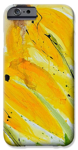 Sonnenhut -  Floral Painting  iPhone Case by Ismeta Gruenwald