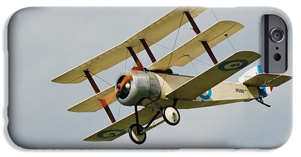 Sopwith Triplane iPhone Cases - Sopwith triplane iPhone Case by David Fowler
