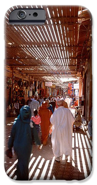 Shade Cover iPhone Cases - Souk, Marrakech, Morocco iPhone Case by Panoramic Images