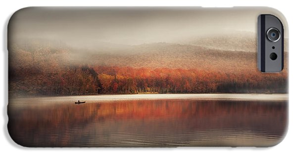 Autumn Art iPhone Cases - Sound of Silence iPhone Case by Magda  Bognar