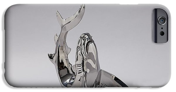 Shark Sculptures iPhone Cases - Souplesse iPhone Case by Victor Douieb