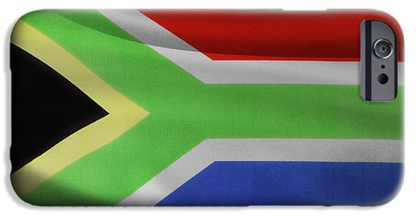 Flag iPhone Cases - South African flag  iPhone Case by Les Cunliffe
