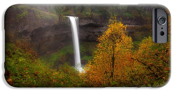 State Parks In Oregon iPhone Cases - South falls at Silver falls state park iPhone Case by Engin Tokaj