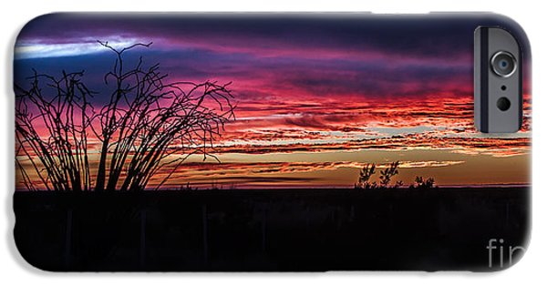 Haybale iPhone Cases - Southwest Sunset iPhone Case by Robert Bales