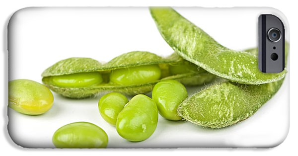 Green Beans iPhone Cases - Soy beans iPhone Case by Elena Elisseeva