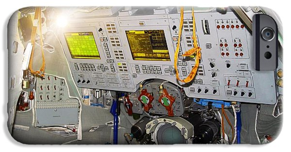 Cockpit Photographs iPhone Cases - Soyuz-tma Spacecraft Cockpit iPhone Case by Detlev van Ravenswaay