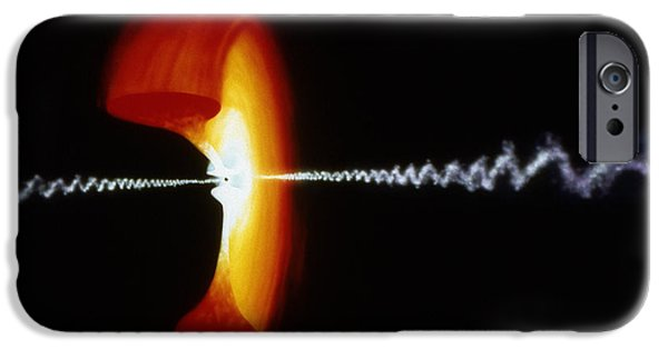 1990 iPhone Cases - Space: Black Hole iPhone Case by Granger