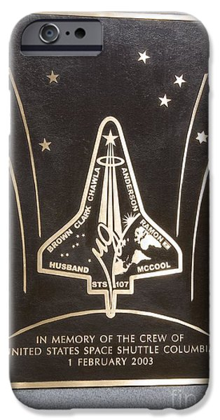 Headstones iPhone Cases - Space Shuttle Columbia Memorial iPhone Case by Mark Williamson