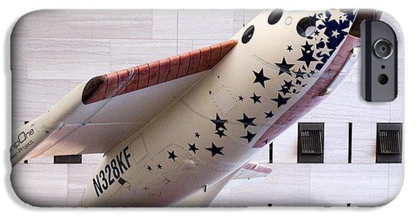 Spaceplane iPhone Cases - Spaceshipone In Museum iPhone Case by Mark Williamson