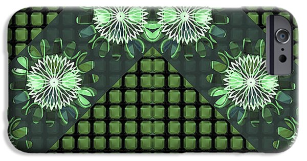 Diy iPhone Cases - Sparkle emerald Chakra ART Decorations Artist created Images Textures Patterns Background Designs  a iPhone Case by Navin Joshi
