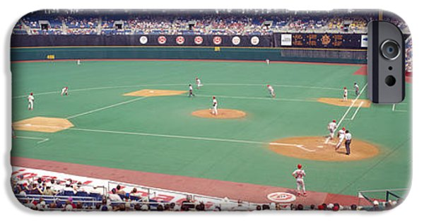 Baseball Stadiums iPhone Cases - Spectator Watching A Baseball Match iPhone Case by Panoramic Images