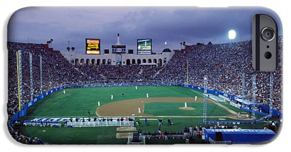 Baseball iPhone Cases - Spectators Watching Baseball Match, Los iPhone Case by Panoramic Images
