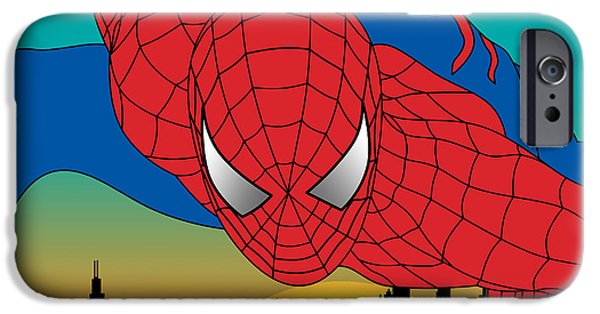 Animation iPhone Cases - Spiderman  iPhone Case by Mark Ashkenazi