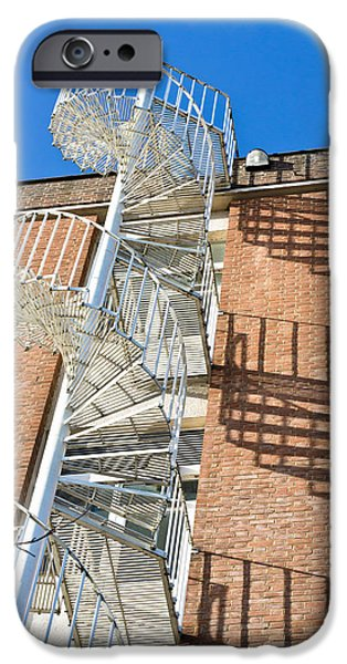 Abstract Forms Photographs iPhone Cases - Spiral staircase iPhone Case by Tom Gowanlock
