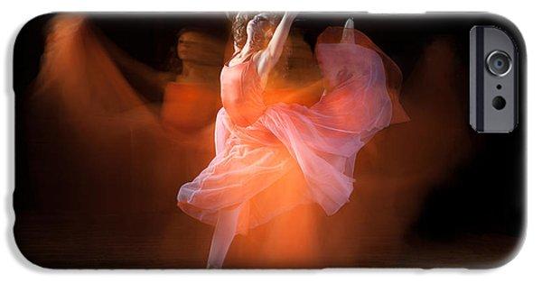 Ballet Dancers iPhone Cases - Spirit Dance iPhone Case by Cindy Singleton