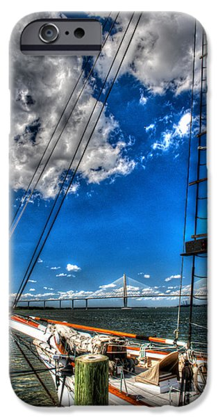 Tall Ship iPhone Cases - Spirit of SC Vertical iPhone Case by Dale Powell