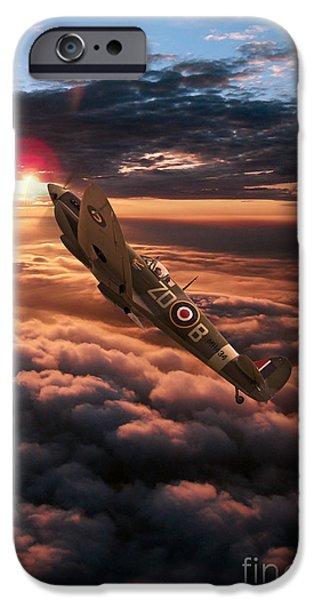 Mkix iPhone Cases - Spitfire Sundown  iPhone Case by J Biggadike