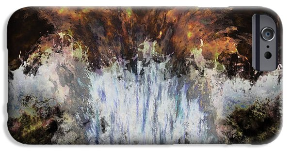 Business Paintings iPhone Cases - Splashdown iPhone Case by Christopher Gaston