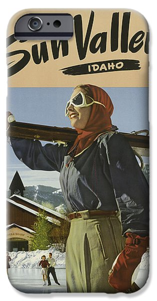 Skiing Posters Paintings iPhone Cases - Sports Posters iPhone Case by Vintage