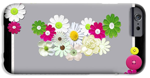 Multimedia iPhone Cases - Spring Bouquet iPhone Case by Tina M Wenger