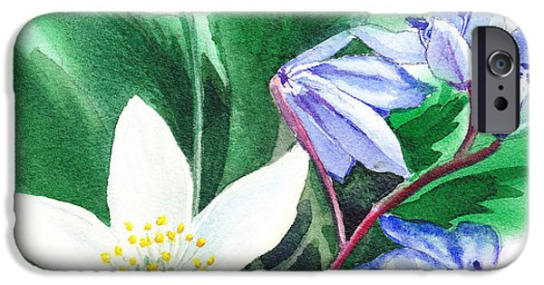 Celebration Paintings iPhone Cases - Spring Flowers iPhone Case by Irina Sztukowski