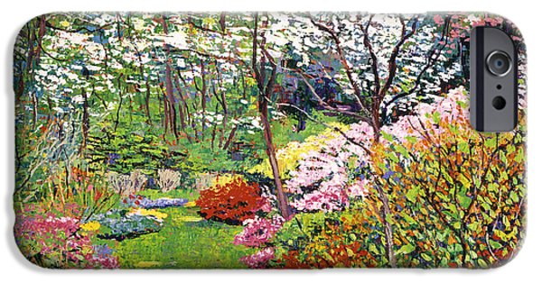 Featured Paintings iPhone Cases - Spring Forest Vision iPhone Case by David Lloyd Glover