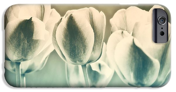 Tulips iPhone Cases - Spring Inspiration iPhone Case by Angela Doelling AD DESIGN Photo and PhotoArt