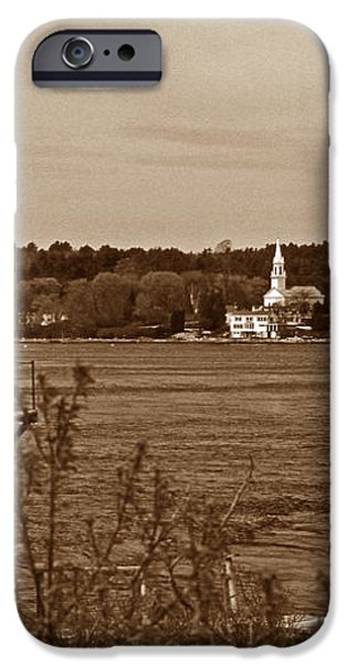SQUIRREL POINT LIGHTHOUSE iPhone Case by Skip Willits