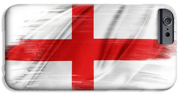 Flag iPhone Cases - St Georges Cross iPhone Case by Les Cunliffe