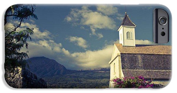 East Village iPhone Cases - St. Joseph Catholic Church Kaupo Maui Hawaii iPhone Case by Sharon Mau
