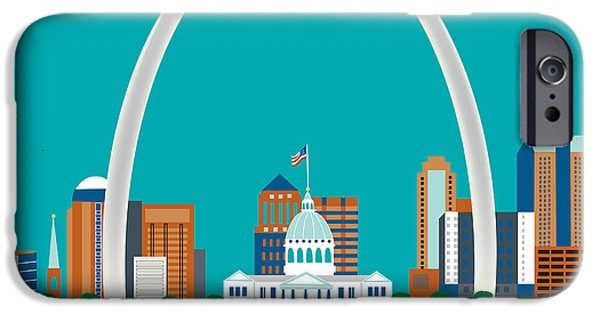 St iPhone Cases - St. Louis iPhone Case by Karen Young