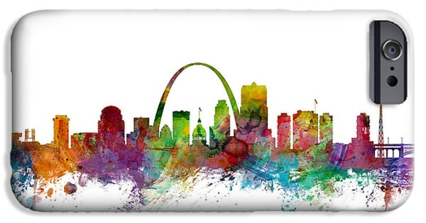 St iPhone Cases - St Louis Missouri Skyline iPhone Case by Michael Tompsett