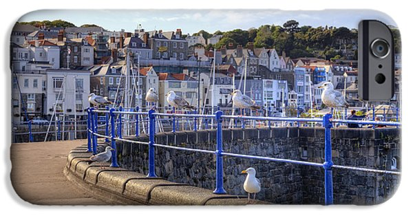 Seagull iPhone Cases - St Peter Port - Guernsey iPhone Case by Joana Kruse