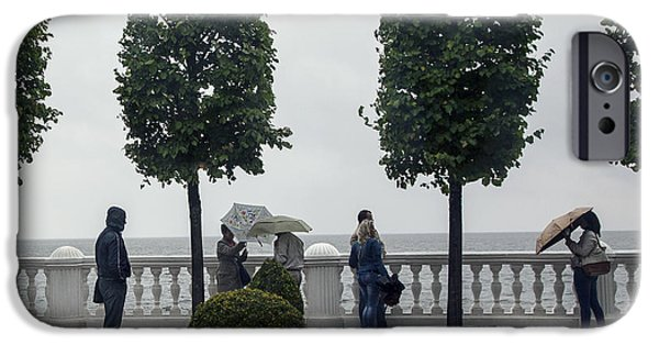 Rainy Day iPhone Cases - St. Petersburg in the Rain - Russia iPhone Case by Madeline Ellis