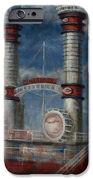 Baseball Stadiums Paintings iPhone Cases - Stacks iPhone Case by Josh Hertzenberg