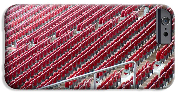 Open Air Theater iPhone Cases - Stadium Seats iPhone Case by Frank Gaertner
