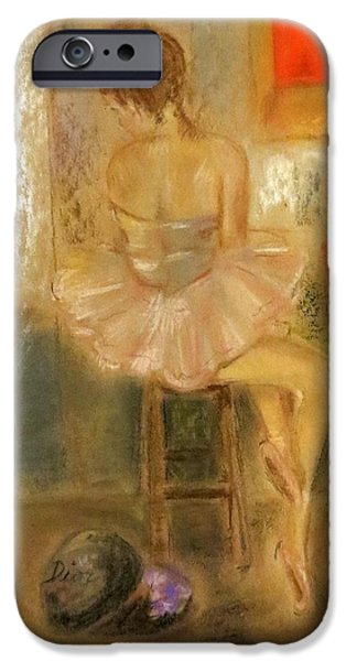 Ballet Dancers iPhone Cases - Stage Left iPhone Case by C Pichura