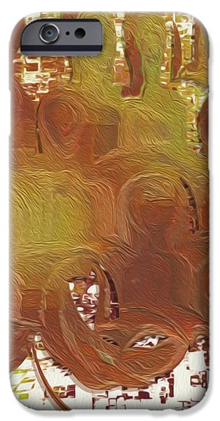 Abstract Forms iPhone Cases - Standing Ovation 4 iPhone Case by Jack Zulli