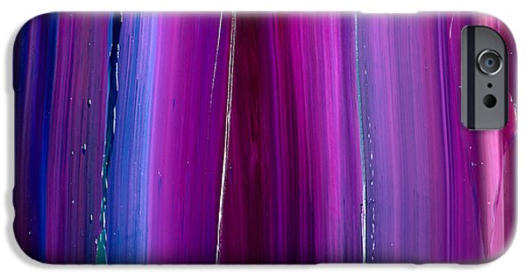 Intergalactic Space Paintings iPhone Cases - Star Texture iPhone Case by Chad Mars